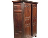 18th Century French Walnut Armoire,Wood Cabinet, Antique Cabinet, French Armoire, Spanish cabinet,Antique wardrobe,English wardrobe, cabinet