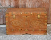 Mehsana Antique Dowry Trunk,Antique Swat valleyTrunk,Antique Dowry Chest,Indian Chest,Indian Marriage Chest,Campaign Furniture,English Trunk