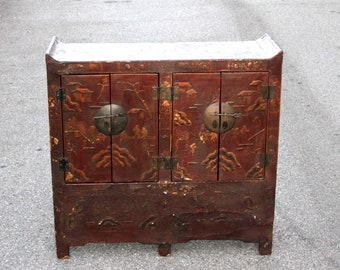 60% Off   Antique Chinosierie Buffet Cabinet, Asian Cabinet,Antique  Cabinet, Chinese Cabinet, Painted Asian Buffet, Vintage Chinese Cabinet
