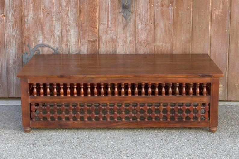 Mauresque Style Teck Table Basse Table De Salon Marocain Etsy