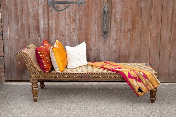 Magnificent Elgeant Rosette Bone Inlay Chaise Lounge Colonial Fainting Couch Bone Inlaid Bench Sofa Bone Inlaid Lounge Bed Sofa Inlay Bench Ncnpc Chair Design For Home Ncnpcorg