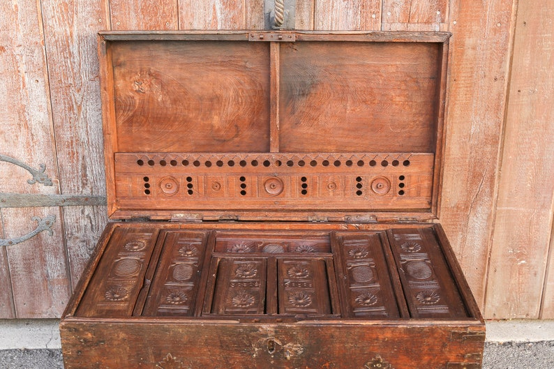 19th Century Campaign Dowry Trunk Antique Trunk Box Antique Etsy