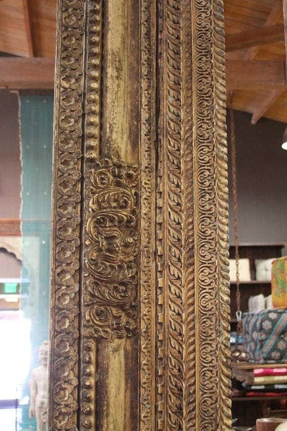 Vintage Wood Paneling: Architectural Carved Beam Vintage Wood Panel Architectural