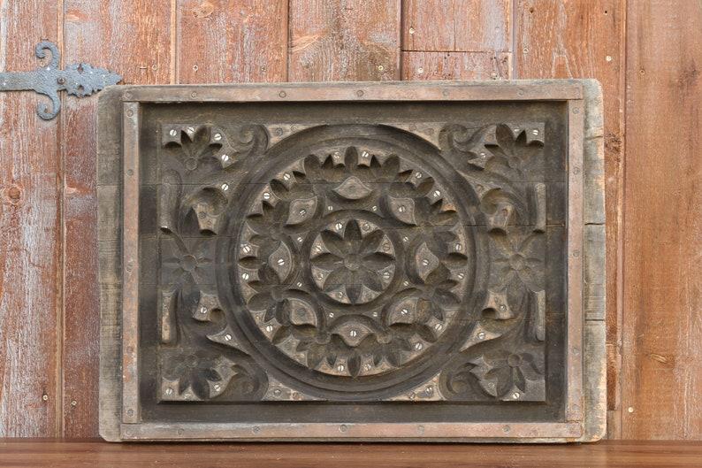 Antique Mandala Printing Wood Block Wall Art Printing Block Panel Wall Decor Wall Art Wooden Printing Bock Block Print Panel