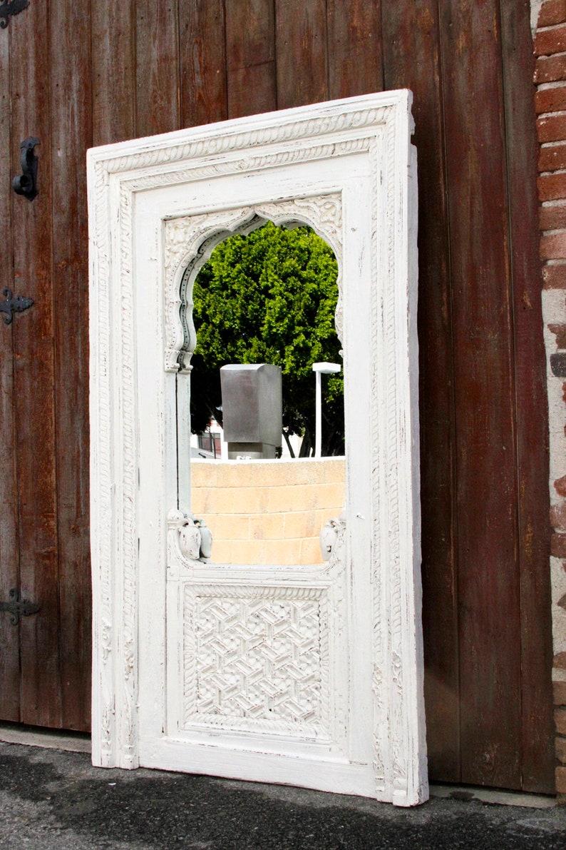 Raipur Jarokha Carved Mirror Indian Carved Floor Mirror Etsy