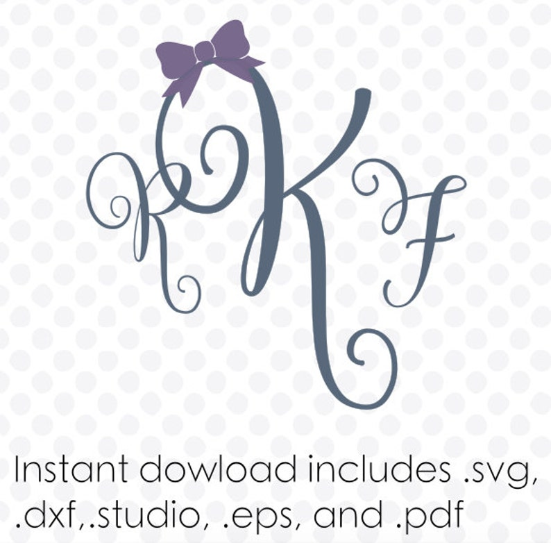 Swirl vine monogram svg font alphabet instant download .dxf .svg and zipped .studio files vector cutting files
