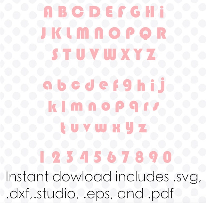 Groovy font svg file alphabet instant download ( zipped  dxf  svg  eps and   studio files) vector cutting files
