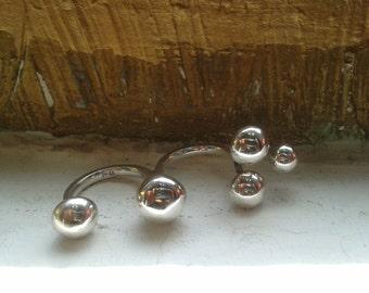 925 multifingered silver ring, Tris, multi, balls, triple ring, adjustable