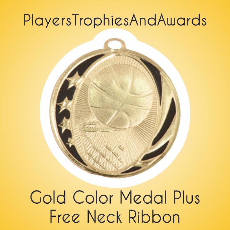 Personalised Basketball Gold Medal /& Ribbon ENGRAVED FREE