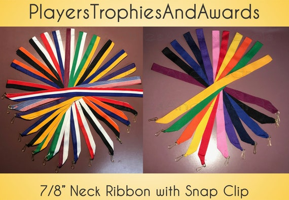 10 NECK Ribbons for medals Assorted colors lanyards 7/8