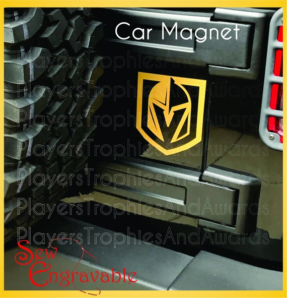 Vegas Golden Knights Car Magnet gift for Hockey Fan two color  07dd6a775211