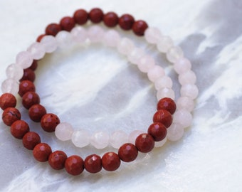 THE LOVERS / Rose Quartz • Red Jasper