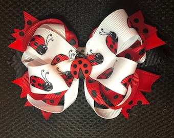 Permanently Sewn Wrap Headband Girls Bow Pull Proof Big Baby Bow Stretchy Headwrap Spring Summer Lady Bugs Love Bugs Velvet Bow