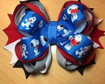 Pink Bows Snoopy Fans Snoopy Dog Cute Hair Bows Snoopy Snoopy Girl Hair Bow Cute Gifts For Toddlers  3D Hair Bow Snoopy Inspired