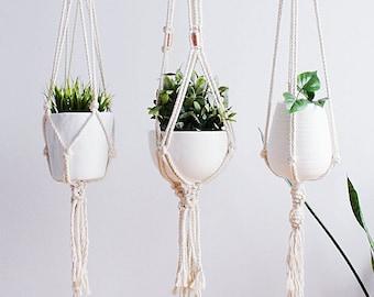 Macrame Plant Hanger, Hanging Planter, Indoor, Mothers Day Gift