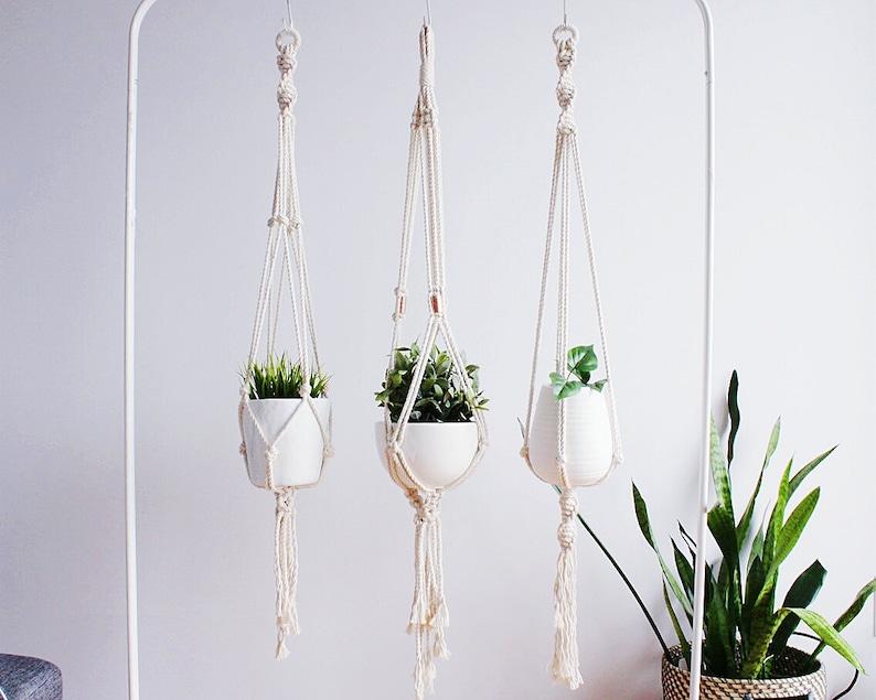 Macrame Plant Hanger Hanging Planter Plant Holder Mom Gift image 0