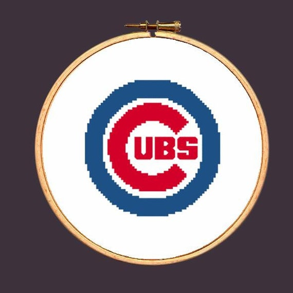 Chicago Cubs Cross Stitch Pattern Needlepoint Embroidery Etsy