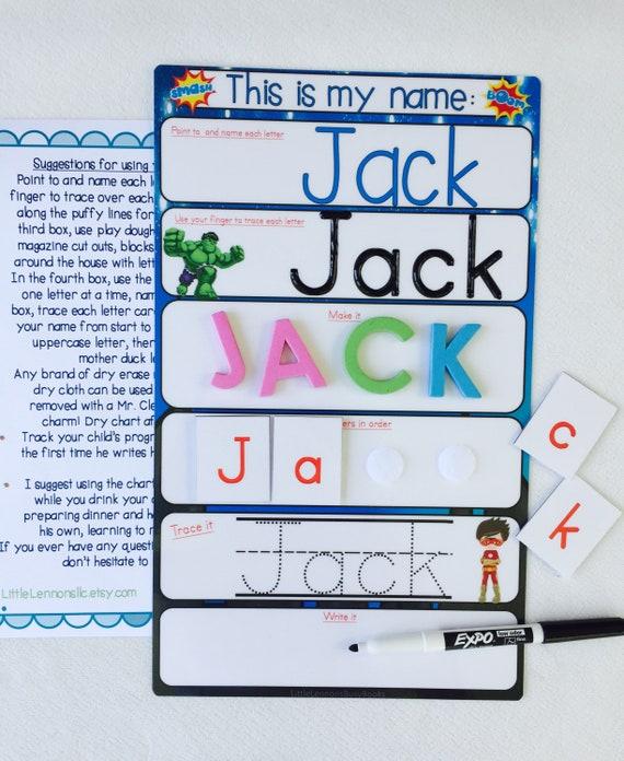 Tarjetas de aprendizaje de nombre-aprender a escribir y hechizo su nombre-que comienza la escuela