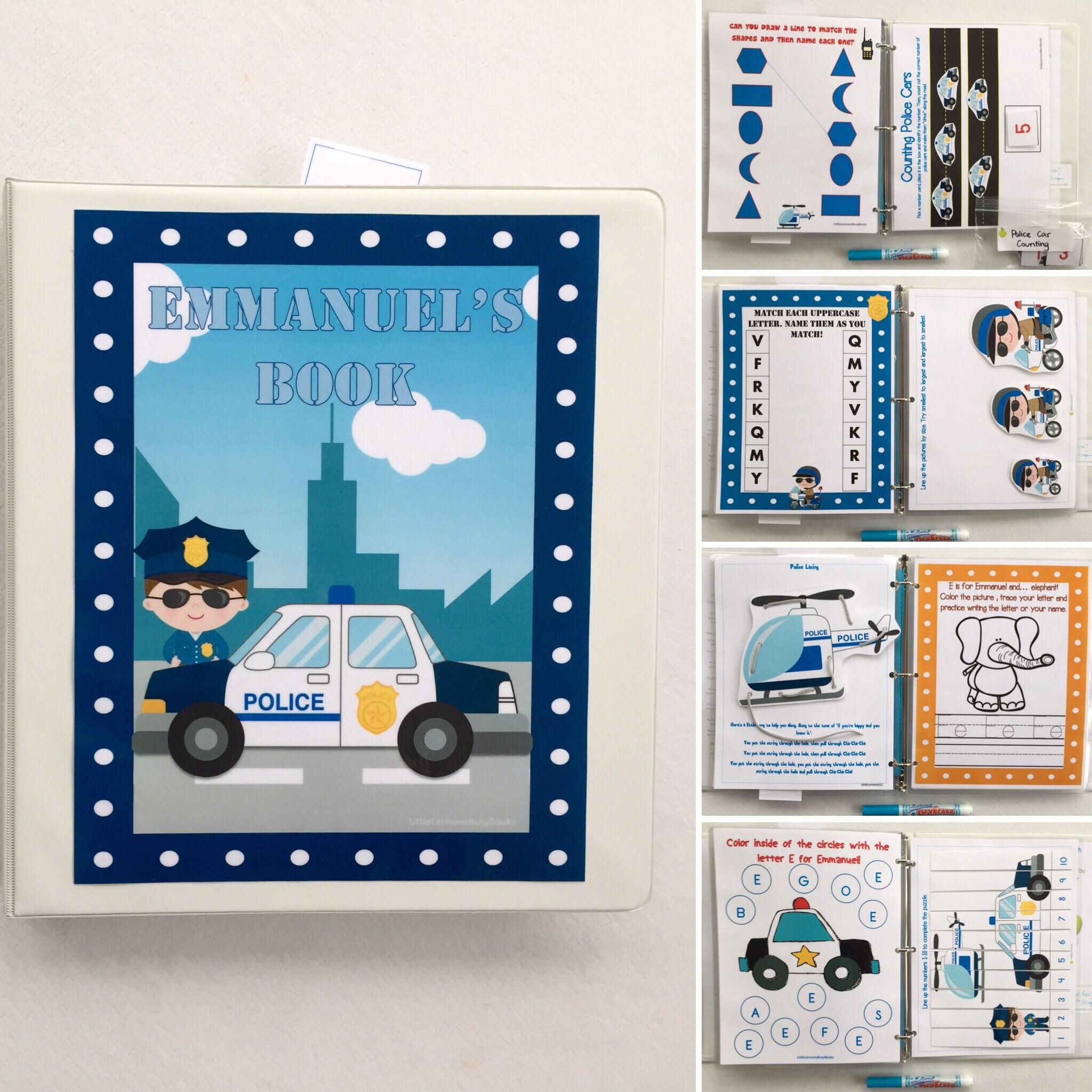 Police Rescue Dry Erase Busy Book/ Quiet Book/Activity   Etsy