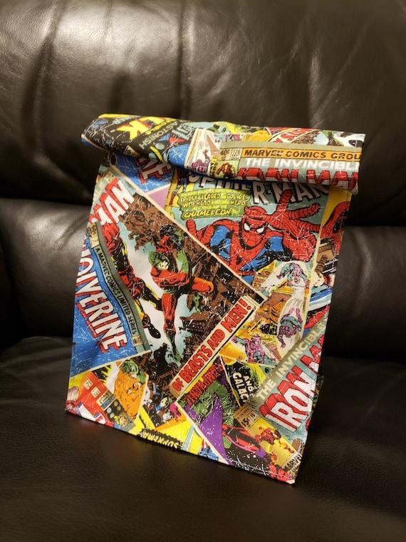 Sac à Lunch imprimé rétro Marvel Comic Book