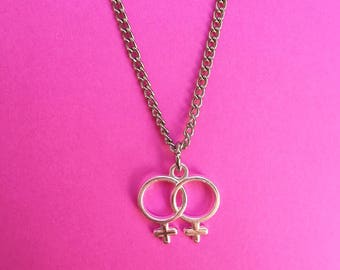 Sapphic Double Venus Necklace