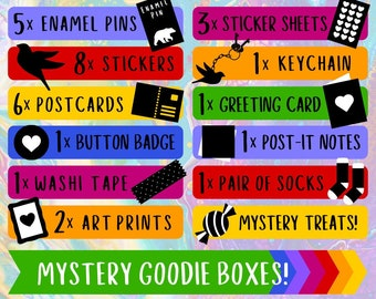 Mystery Boxes - Goodies from 10 ARTISTS - Save 50%! - LIMITED EDITION