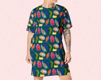 NEW! Nudibranch T-Shirt Dress - Sizes 2XS-6XL - All Over Print