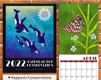 PREORDER - 2022 Calendar for Conservation - 100% Recycled - Eco-Friendly - Supports Charity!