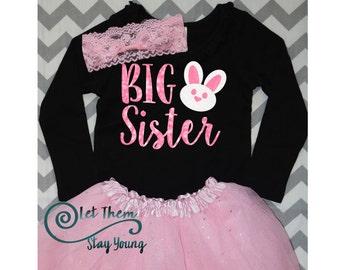 Big Sister Easter Announcement Big Sister Holiday announcement, big sister easter bunny announcement, big sister easter announcement