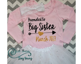 Only Child Expiring Promoted to Big Sister Shirt Little Sister Shirt Pregnancy Announcement Shirt Sibling Shirts Baby Announcement