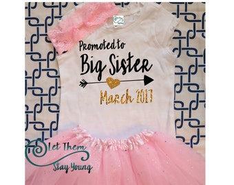 Only Child Expiring Promoted to Big Sister Shirt Little Sister Shirt Pregnancy Announcement Shirt Sibling Shirts Baby Announcement Shirt