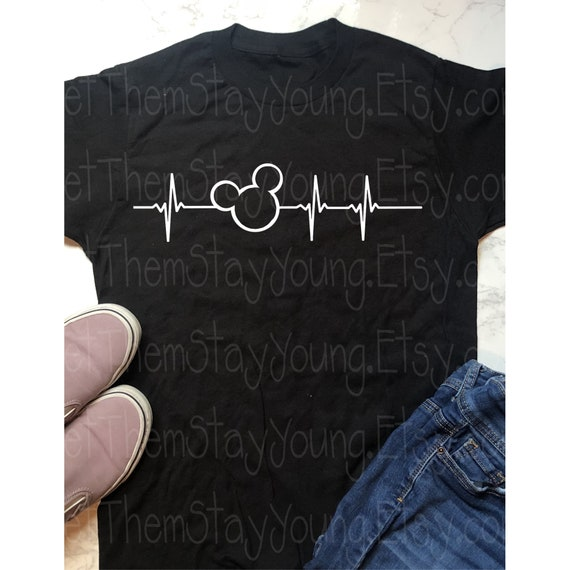 8314a385 Disney Shirts, Mickey Heartbeat, My Heart Beats for Mickey svg, *INSTANT  DOWNLOAD ONLY* Family Disney Shirts, Disney Inspired Shirt