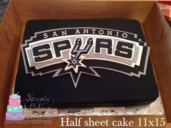 Admirable Items Similar To San Antonio Spurs Edible Fondant Cake Topper On Etsy Personalised Birthday Cards Epsylily Jamesorg