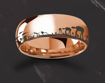 Star Wars Engraved Rings
