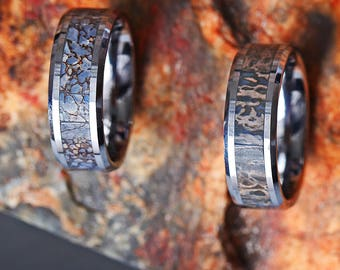 Dinosaur Bone Inlay Ring