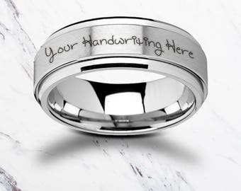 Custom Handwritten Rings