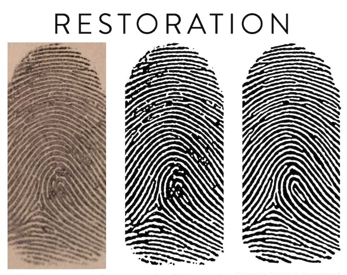 Professional Fingerprint Handprint and Footprint Restoration Service - Print Retouching Editing for Jewelry Engraving Processing Vectors
