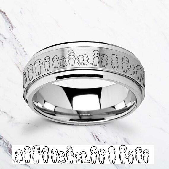 Laser Gravierte Fidget Spinner Prinzessin Mononoke Ring Kodama Etsy