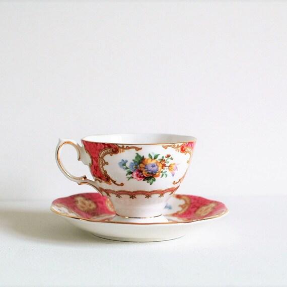Royal Albert Servies Waarde.Theekop Royal Albert Vintage Teacup Lady Carlyle Regency Stijl Etsy