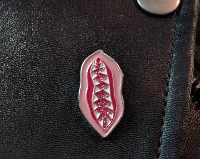 Vagina Dentata Enamel Pin