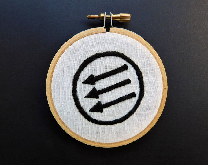 Hand Embroidered Anti-Fascist Symbol