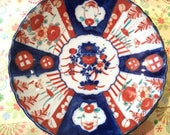 Lovely Large Antique Japanese Imari Charger Meiji Period Mid 1800,s.11 quot (27.5cm).Good Condition.