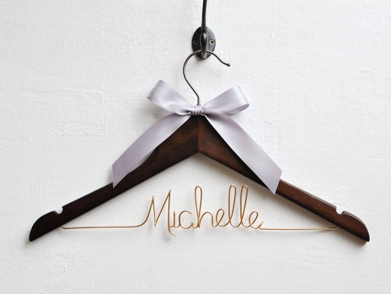 Bridal shower gifts Bridal Gift,Bridal Hanger Bride Name Hanger Wedding Dress Hanger Personalized Customize Bridesmaid Hanger