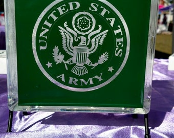 US Army lighted glass block