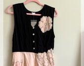 NWT Anthropologie Vintage Dress SnaK Dress Size 12 Silk Vintage Dress Pink and Black Vintage Floral Sleeveless Long Dres