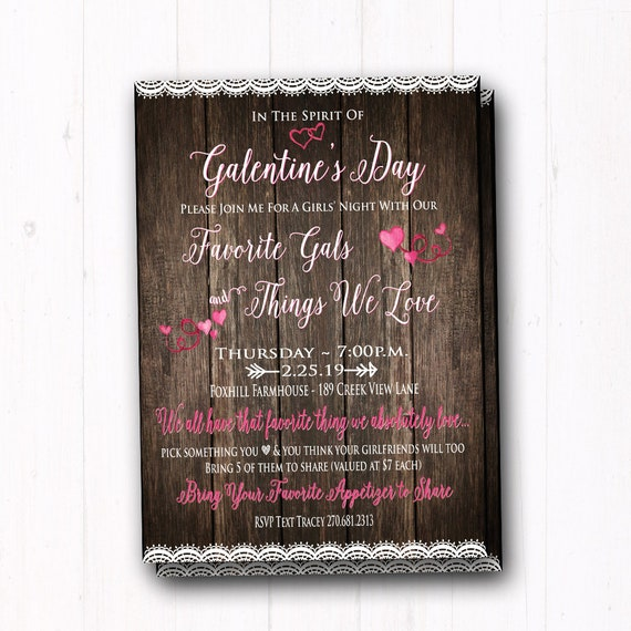 Favorite Things Galentine S Day Invite Ladies Gift Exchange