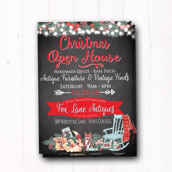 Il_570xn - Christmas Open House Invitation - Dinner Party - Housewarming - Shop