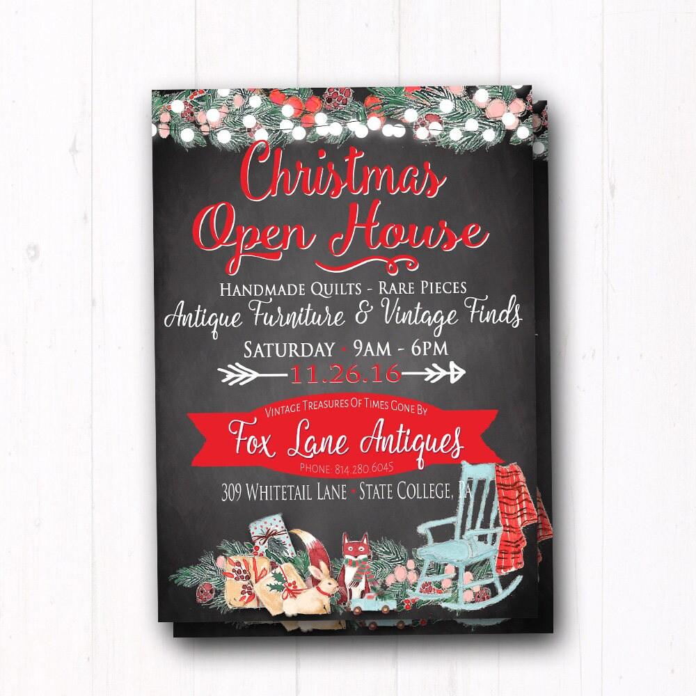 Weihnachten Tag der offenen Tür Einladung Dinner Party | Etsy