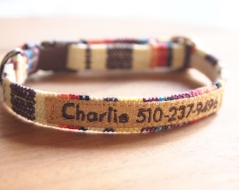 Personalized Colorful Breakaway Cat Collar