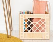 Wooden Milk Crate // Vintage Inspired Milk Crate // Replica Milk Crate